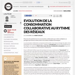 Evolution de la consommation collaborative au rythme des réseaux