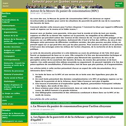 Autour de la Mesure du panier de consommation (MPC) - Collectif pour un Québec sans pauvreté