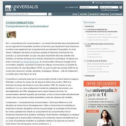 CONSOMMATION - Comportement du consommateur