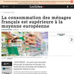 La consommation des ménages français est supérieure à la moyenne européenne, Conjoncture