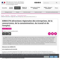 DIRECCTE (directions régionales des entreprises, de la concurrence, de la consommation, du travail et de l'emploi) - Services déconcentrés