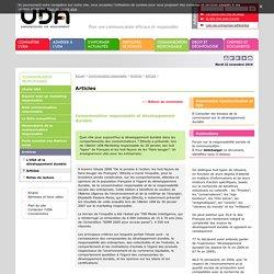 Consommation et développement durable> Union des annonceurs