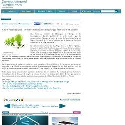 Crise économique : la consommation énergétique française en baisse