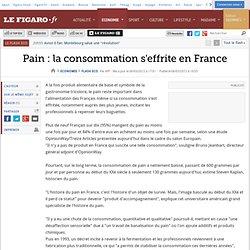 Pain : la consommation s'effrite en France