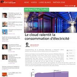 Le cloud ralentit la consommation d'électricité