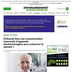 [Tribune] Vers une consommation raisonnée d'appareils électroménagers pour préserver la planète ?