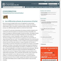 CONSOMMATION - Comportement du consommateur, Les différentes phases du processus d'achat