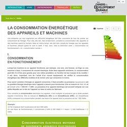 Consommation énergétique machines - Les cahiers du DD