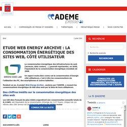 Etude Web Energy Archive : la consommation énergétique des sites web, côté utilisateur – ADEME Presse