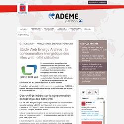 Etude Web Energy Archive : la consommation énergétique des sites web, côté utilisateur