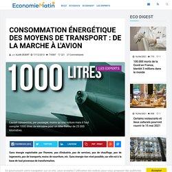 Consommation énergétique des moyens de transport : de la marche à l'avion
