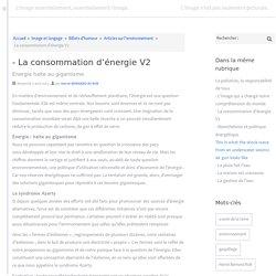 - La consommation d'énergie V2
