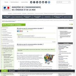 Qu'est-ce que la consommation durable ? - Ministère de l'Environnement, de l'Energie et de la Mer