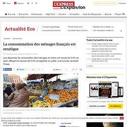 La consommation des ménages français est erratique