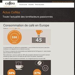 Consommation de café en Europe – Actus Cofféa