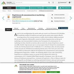 Expériences de consommation et marketing expérientiel