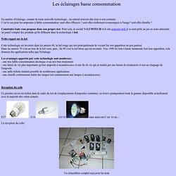 éclairages basse consommation,led,fluocompacte,économie energie