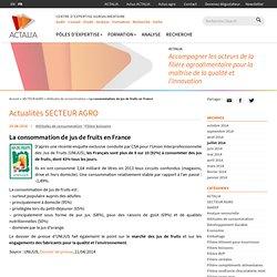 La consommation de jus de fruits en France - Actalia