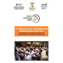 10 TENDANCES DE CONSOMMATION INDISPENSABLE POUR 2013
