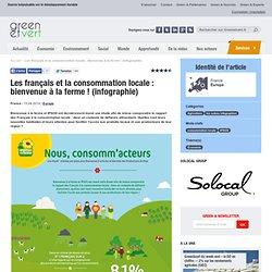 Les français et la consommation locale, infographie