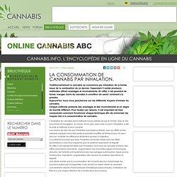 La consommation de cannabis par inhalation.