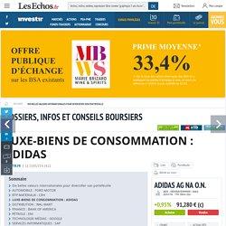 LUXE-BIENS DE CONSOMMATION : ADIDAS, Dix belles valeurs internationales pour diversifier son portefeuille
