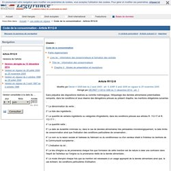 Code de la consommation - Article R112-9