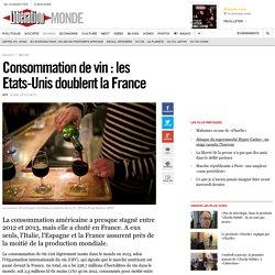 Consommation de vin: les Etats-Unis doublent la France