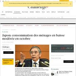Japon: consommation des ménages en baisse modérée en octobre