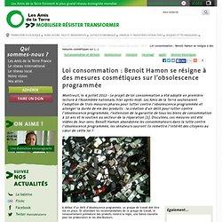 Loi consommation : Benoit Hamon se résigne à des mesures cosmétiques sur l'obsolescence programmée