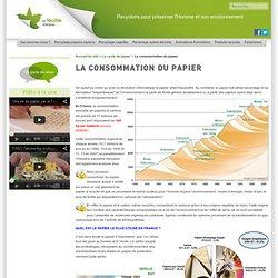 La consommation du papier