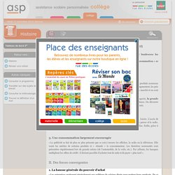 L'émergence de la société de consommation - Réviser une notion - Histoire - 3e - Assistance scolaire personnalisée et gratuite - ASP