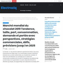 Marché mondial du chocolat 2019 Tendance, taille, part, consommation, demande et portée avec perspectives, stratégies commerciales, défis, prévisions jusqu'en 2025 – Electroziq