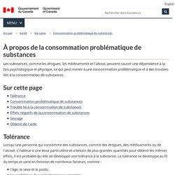 À propos de la consommation problématique de substances