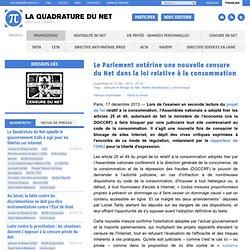 Le Parlement entérine une nouvelle censure du Net dans la loi relative à la consommation