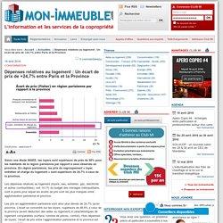 Consommation : Dépenses relatives au logement : Un écart de prix de +24,7% entre Paris et la Province