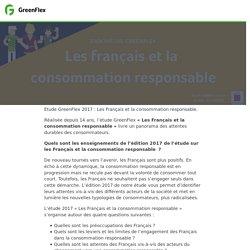 Etude les français et la consommation responsable 2017