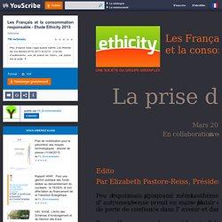 Les Français et la consommation responsable - Etude Ethicity 2013 - Activisme