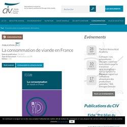 La consommation de viande en France - CIV - Viande, Sciences et Société