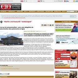 Loi sur la consommation: vers une obligation de sécurisation des paiements en ligne