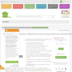 GCE Electronics Eco-Devices - Module IP de suivi de consommation avec téléinformation - www.domotique-store.fr