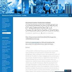 Consommation d'énergie et valorisation de la chaleur des data-centers