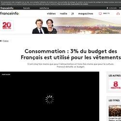 Consommation : 3% du budget des Français est utilisé pour les vêtements