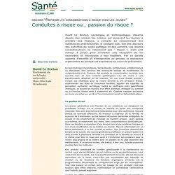 386 - Prévenir les consommations à risque chez les jeunes - Conduites à risque ou... passion du risque ?