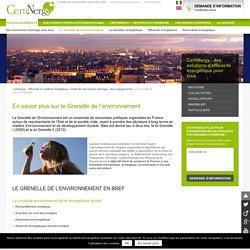 Consommations énergétiques - Grenelle de l'environnement