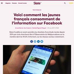 Voici comment les jeunes français consomment de l'information sur Facebook
