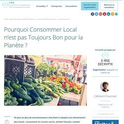 E RSE 19/09/16 Pourquoi Consommer Local n'est pas Toujours Bon pour la Planète ?