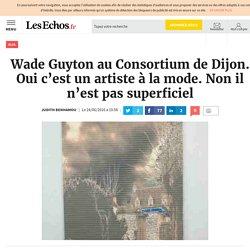 Wade Guyton au Consortium de Dijon. Oui c'est un artiste à la mode. Non il n'est pas superficiel