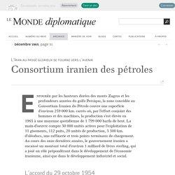 Consortium iranien des pétroles (Le Monde diplomatique, décembre 1965)