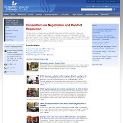 Consortium on Negotiation and Conflict Resolution — Consortium on Negotiation and Conflict Resolution — Georgia State University